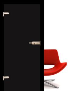 Drzwi szklane Interdoor czarne