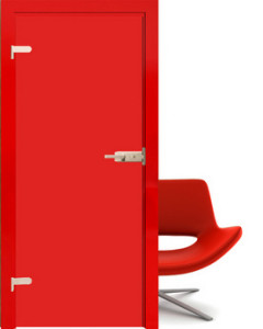 Drzwi szklane Interdoor czerwone