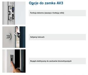 CAL - ZAMEK AUTOMATYCZNY AV3 OPCJE