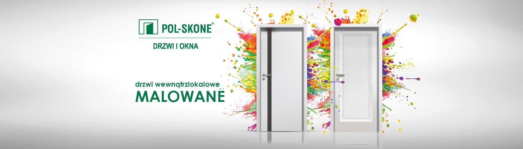 Drzwi wewnątrzlokalowe Malowane Pol-Skone Slide